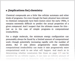 [Implications for] chemistry