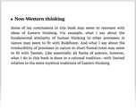 Non-Western thinking