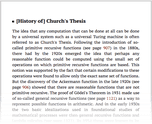 [History of] Church's Thesis