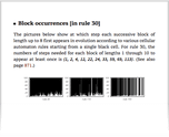 Block occurrences [in rule 30]