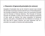 Character of [general] principles [in science]