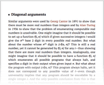 Diagonal arguments