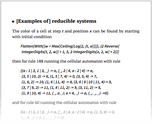 [Examples of] reducible systems