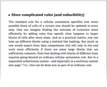 More complicated rules [and reducibility]
