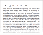 History [of ideas about free will]