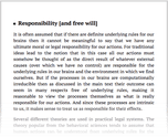 Responsibility [and free will]