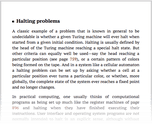Halting problems