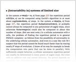 [Intractability in] systems of limited size