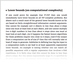 Lower bounds [on computational complexity]