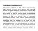 Mathematical impossibilities