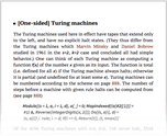 [One-sided] Turing machines