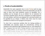 Proofs of undecidability