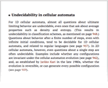 Undecidability in cellular automata