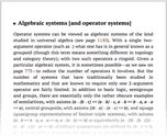 Algebraic systems [and operator systems]