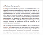 [Axioms for] geometry