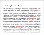 Basic logic [and axioms]