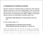 Comparison to multiway systems
