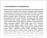 Generalization in mathematics