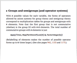 Groups and semigroups [and operator systems]