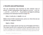 Growth rates [of functions]