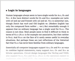Logic in languages