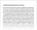[Mathematical] proofs in practice