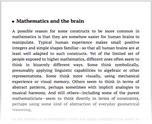 Mathematics and the brain