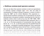 Multiway systems [and operator systems]