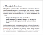 Other algebraic systems