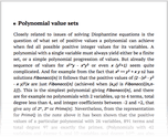 Polynomial value sets