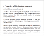 Properties [of Diophantine equations]