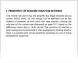 Properties [of example multiway systems]