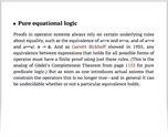 Pure equational logic