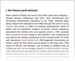 Set theory [and axioms]