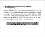 Theorem distributions [in standard mathematics]