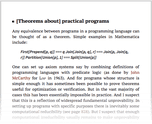 [Theorems about] practical programs