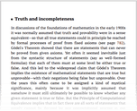 Truth and incompleteness