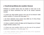 Unsolved problems [in number theory]