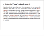 History [of Pascal's triangle mod k]