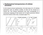 Mathematical interpretation of cellular automata