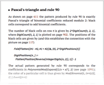 Pascal's triangle and rule 90