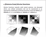 [Patterns from] bitwise functions