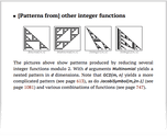 [Patterns from] other integer functions