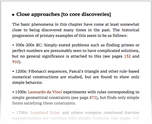 Close approaches [to core discoveries]