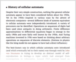 History of cellular automata
