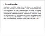 Recognition of art