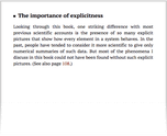 The importance of explicitness