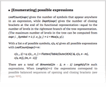 [Enumerating] possible expressions