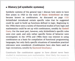 History [of symbolic systems]