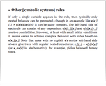 Other [symbolic systems] rules